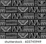 seamless vector pattern. black... | Shutterstock .eps vector #603745949