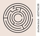 vector circle maze | Shutterstock .eps vector #603746138