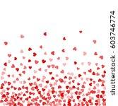 red pattern of random falling... | Shutterstock . vector #603746774