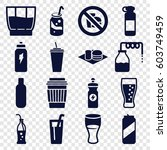 soda icons set. set of 16 soda... | Shutterstock .eps vector #603749459