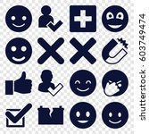 positive icons set. set of 16... | Shutterstock .eps vector #603749474