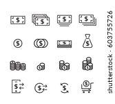 money line icon set | Shutterstock .eps vector #603755726