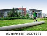 schoolboy after school | Shutterstock . vector #60375976