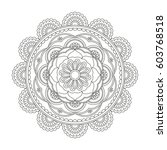 flower mandala. vintage...   Shutterstock .eps vector #603768518