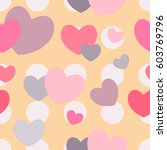 colorful hearts seamless... | Shutterstock .eps vector #603769796