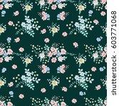 flowery tracery pattern in... | Shutterstock .eps vector #603771068
