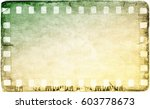 vintage film strip frame on old ... | Shutterstock . vector #603778673