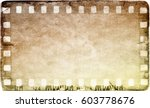 vintage film strip frame on old ... | Shutterstock . vector #603778676