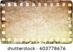 vintage film strip frame on old ... | Shutterstock . vector #603778676