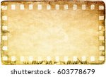 vintage film strip frame on old ... | Shutterstock . vector #603778679