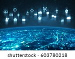 internet of things iot  over... | Shutterstock . vector #603780218