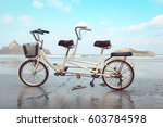 Tandem Bicycle On The Beach...