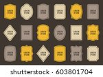 set of product label templates. ... | Shutterstock .eps vector #603801704