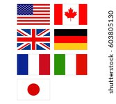 vector illustration of flags of ... | Shutterstock .eps vector #603805130