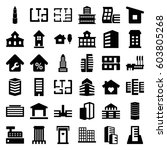 apartment icons set. set of 36... | Shutterstock .eps vector #603805268