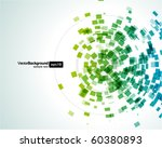 abstract fly shapes vector...   Shutterstock .eps vector #60380893