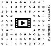 movie tape icon illustration... | Shutterstock .eps vector #603813650