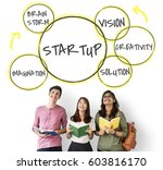 start up business invention...   Shutterstock . vector #603816170