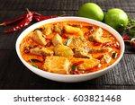 homemade delicious mango fish... | Shutterstock . vector #603821468