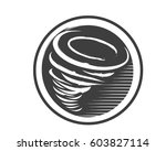 modern tornado emblem logo | Shutterstock .eps vector #603827114