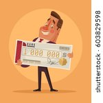 happy smiling man office worker ... | Shutterstock .eps vector #603829598