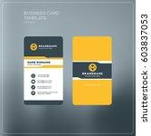 vertical business card print... | Shutterstock .eps vector #603837053