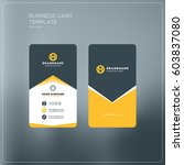 vertical business card print... | Shutterstock .eps vector #603837080