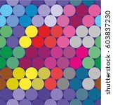 dots colorful modern pattern.... | Shutterstock .eps vector #603837230
