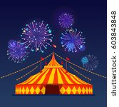 big top circus tents with... | Shutterstock .eps vector #603843848