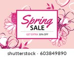 spring sale poster template... | Shutterstock .eps vector #603849890