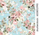 seamless watercolor pattern... | Shutterstock . vector #603851990