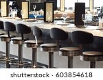 bar stools and bar desk with... | Shutterstock . vector #603854618