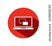 chat laptop vector icon | Shutterstock .eps vector #603858290