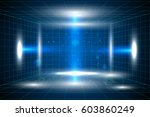 vector technology blue lines... | Shutterstock .eps vector #603860249