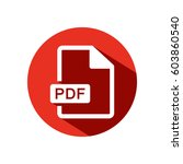 pdf vector icon | Shutterstock .eps vector #603860540