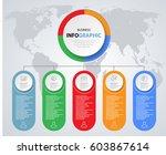 infographics marketing icons... | Shutterstock .eps vector #603867614