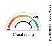 credit score rating.... | Shutterstock .eps vector #603875813
