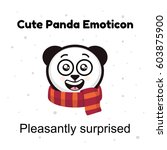 panda emoticon illustrations... | Shutterstock .eps vector #603875900