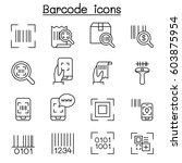 qr code   scanner  package code ... | Shutterstock .eps vector #603875954