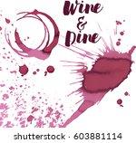 wine spots and spill  vector   Shutterstock .eps vector #603881114