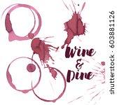 wine spots and spill  vector | Shutterstock .eps vector #603881126