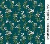 vector seamless pattern with... | Shutterstock .eps vector #603883790
