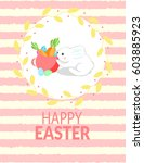 happy easter  greeting card... | Shutterstock .eps vector #603885923