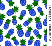 pattern of pineapple.  | Shutterstock .eps vector #603886064