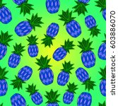 pattern of pineapple.  | Shutterstock .eps vector #603886070