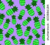 pattern of pineapple.  | Shutterstock .eps vector #603886184