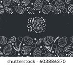 easter eggs composition hand... | Shutterstock .eps vector #603886370