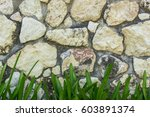 old stone wall with tree as... | Shutterstock . vector #603891374