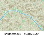 vector city map of paris with... | Shutterstock .eps vector #603893654