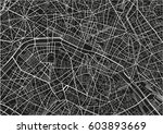 black and white vector city map ... | Shutterstock .eps vector #603893669